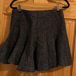 Mini black and silver glitter skirt